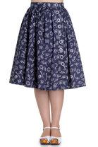 Hell Bunny - Marin Navy Skirt